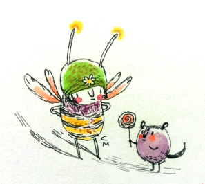 bee and candy