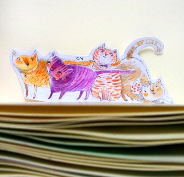 cats made of paper
