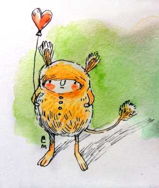 dormouse with ballon